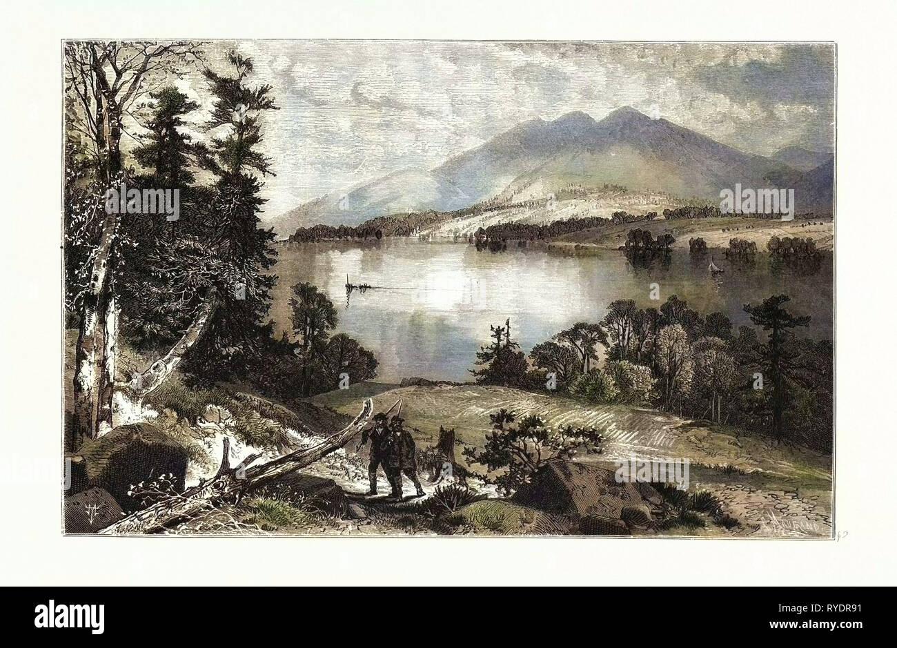 Cat Mountain, Lake George USA - Stock Image