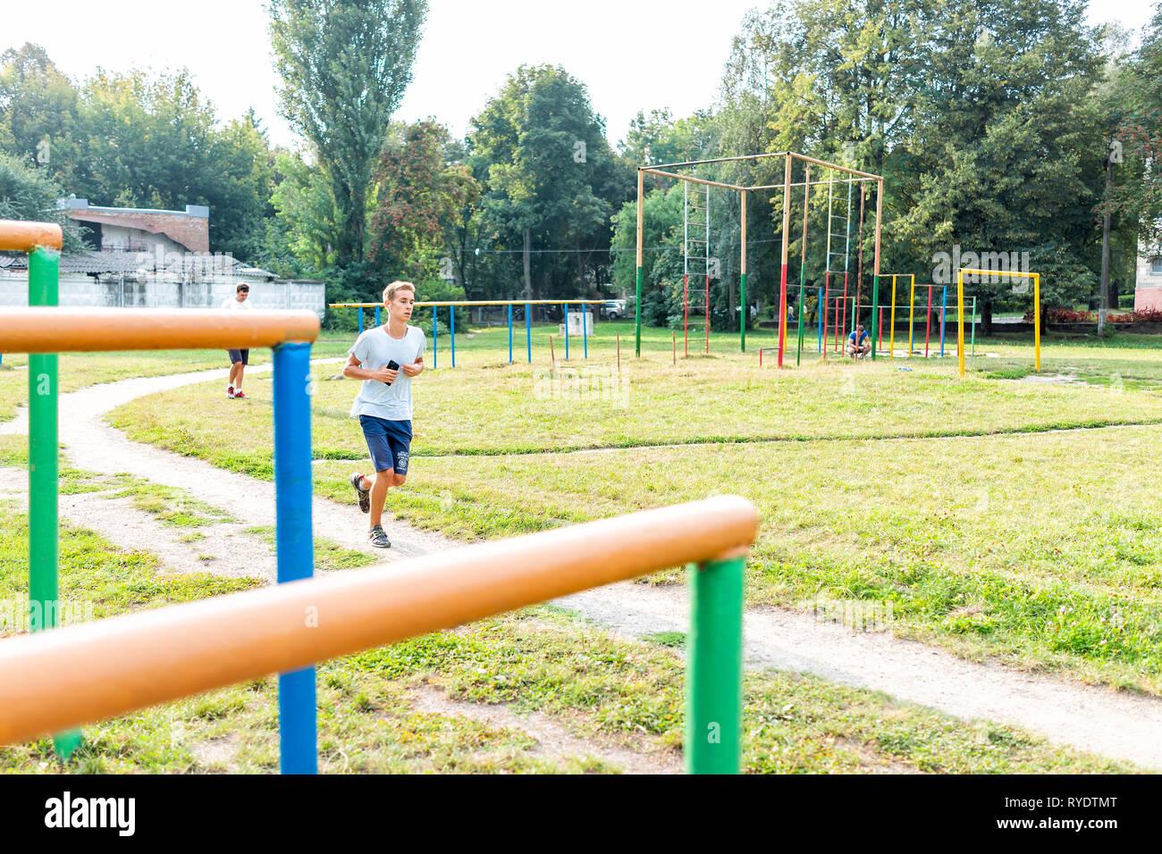 Rivne, Ukraine - August 21, 2018: Rovno city in western