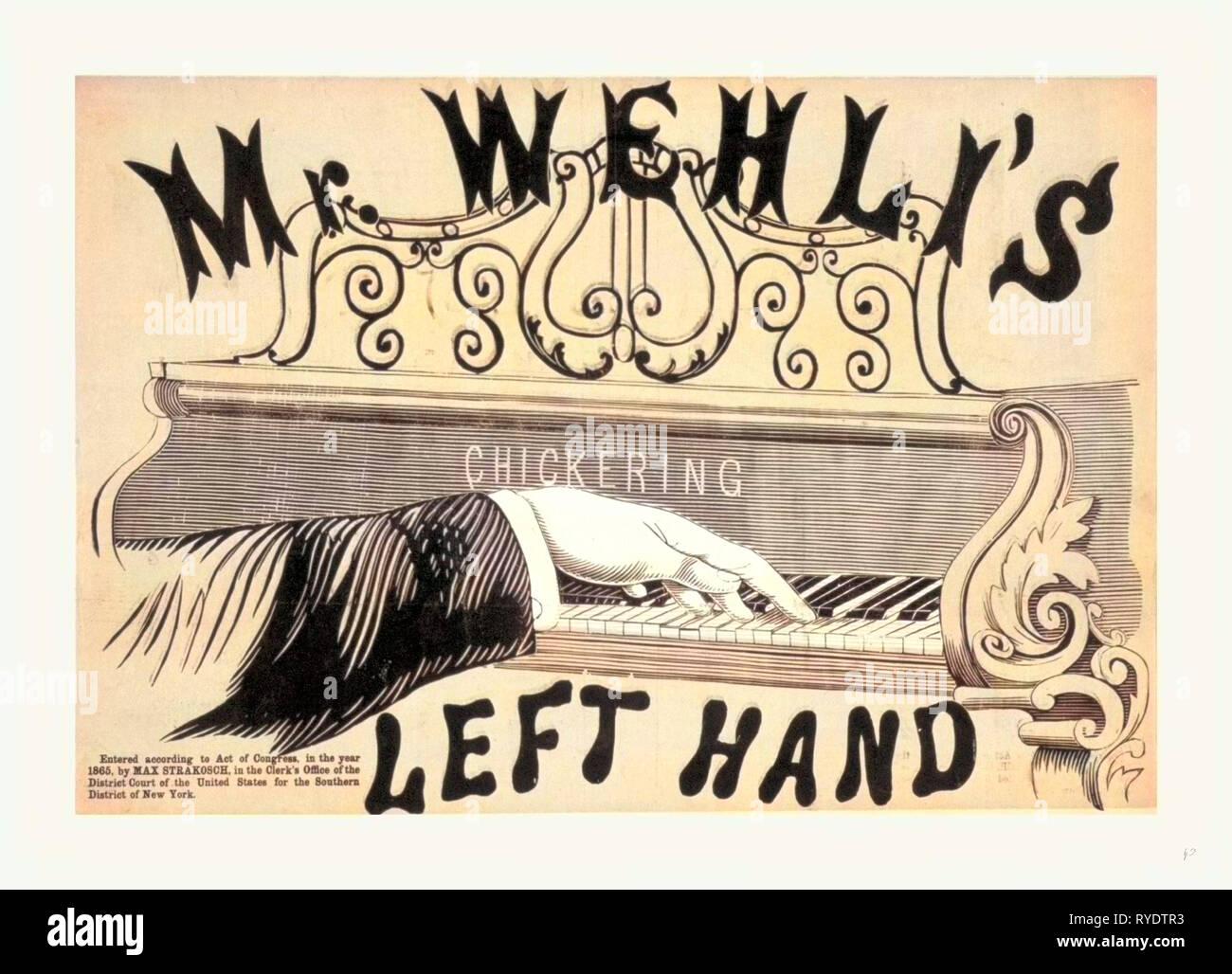 Mr. Wehli's Left Hand, 1865 - Stock Image