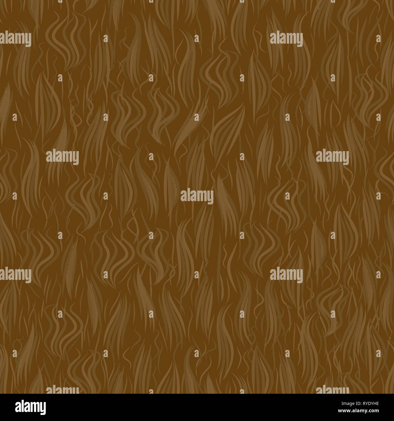 The texture of the brown wool. Seamless pattern background. Vector illustration. Animal skin. - Stock Vector