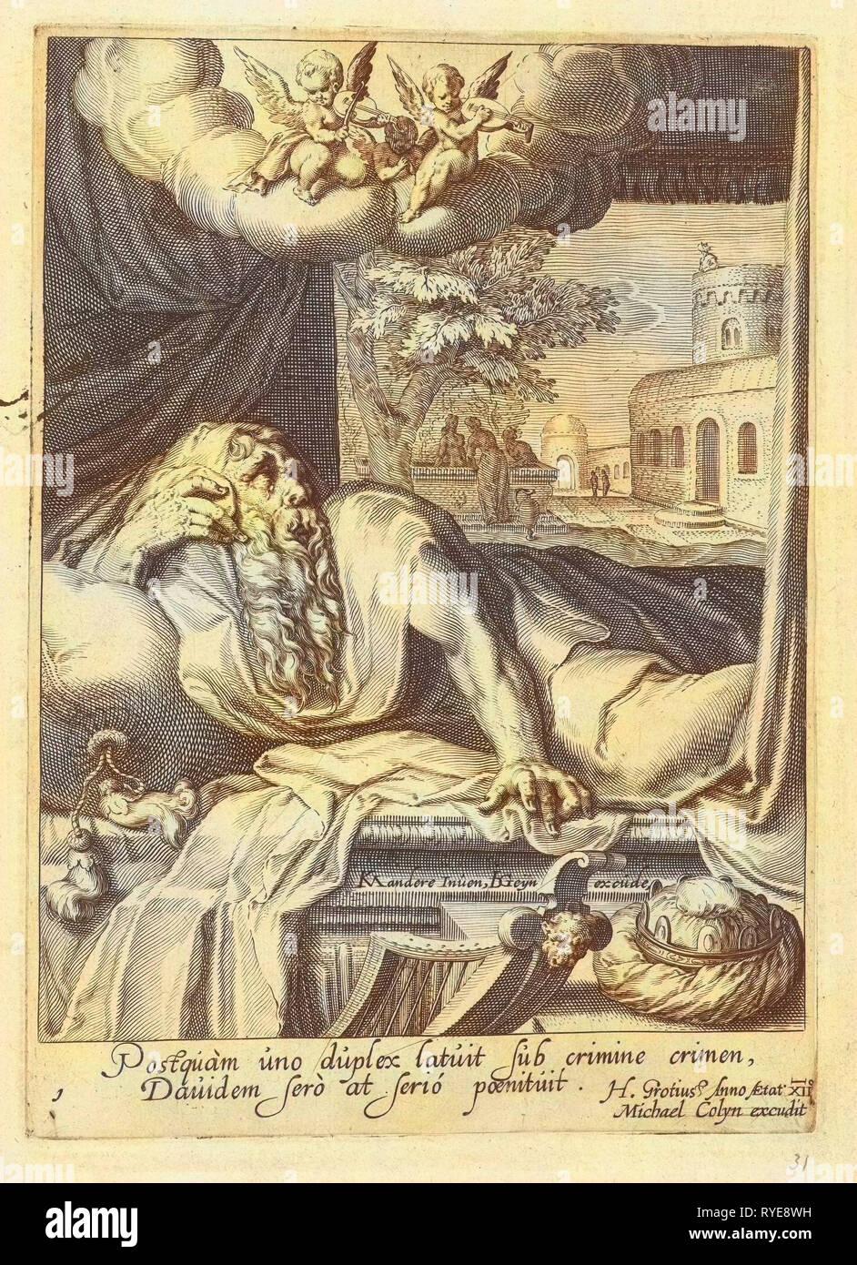 David as penitent, Hugo de Groot, Michael Colyn, 1595 - 1596 - Stock