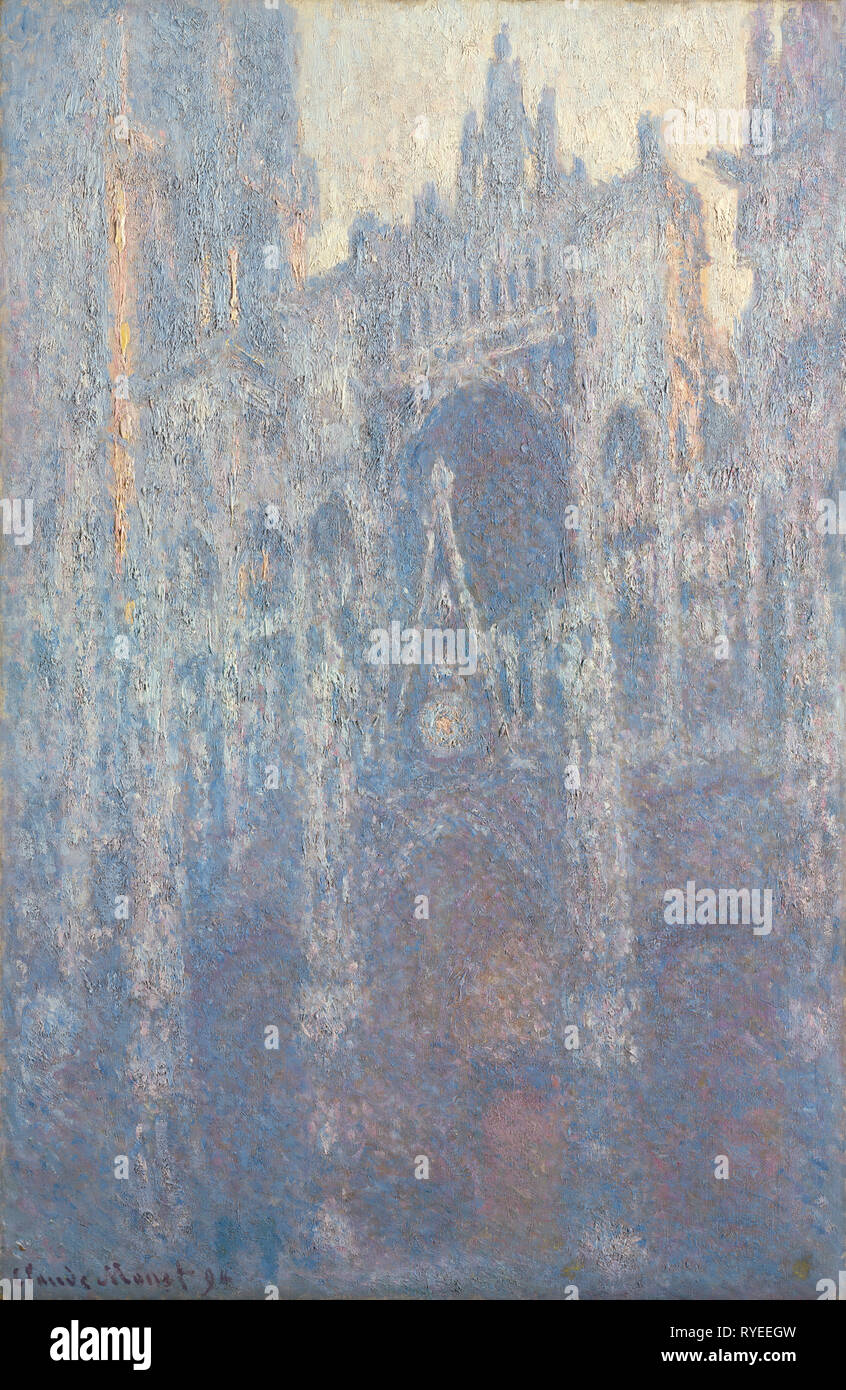 The Portal of Rouen Cathedral in Morning Light; Claude Monet (French, 1840 - 1926); France; 1894; Oil on canvas; 100.3 × 65.1 cm (39 1/2 × 25 5/8 in.); 2001.33 - Stock Image