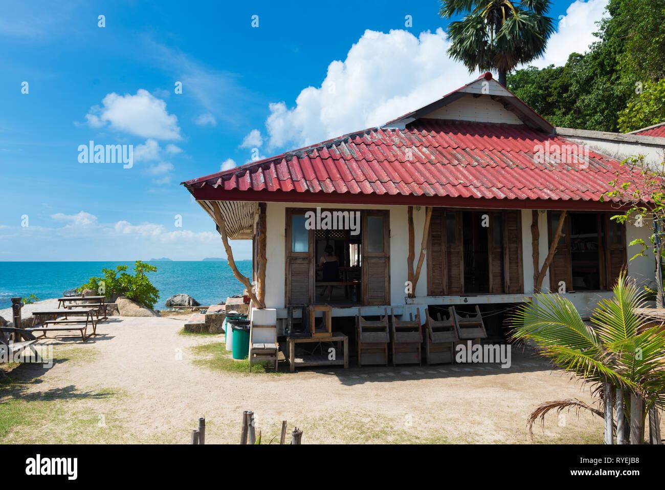 Lighthouse Restaurant back side in Phangan island, Thailand Stock Photo