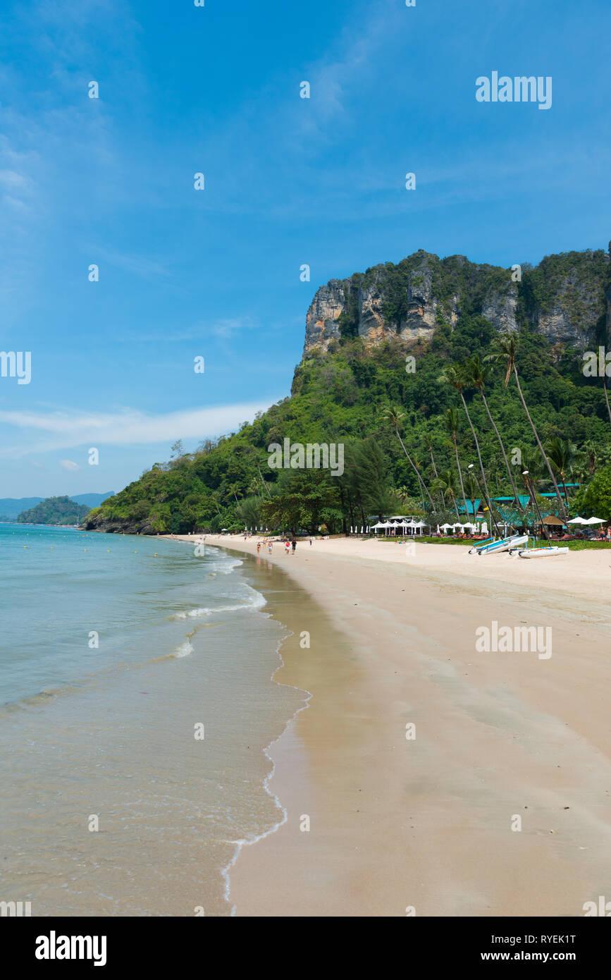 Empty Centara Grand beach near Ao Nang, Krabi province, Thailand - Stock Image