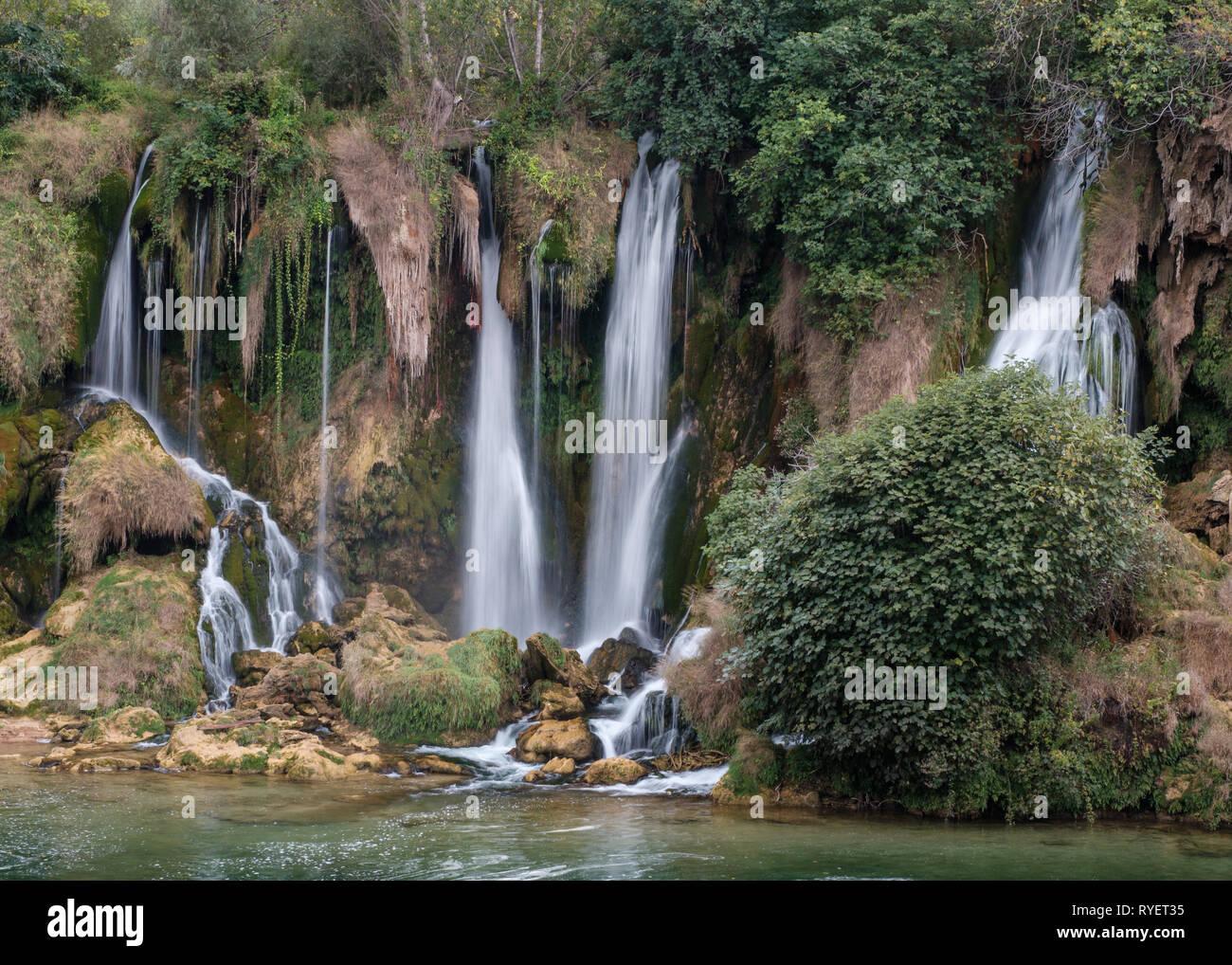 Kravice falls on the Trebizat River in Herzegovina, Bosnia and Herzegovina - Stock Image