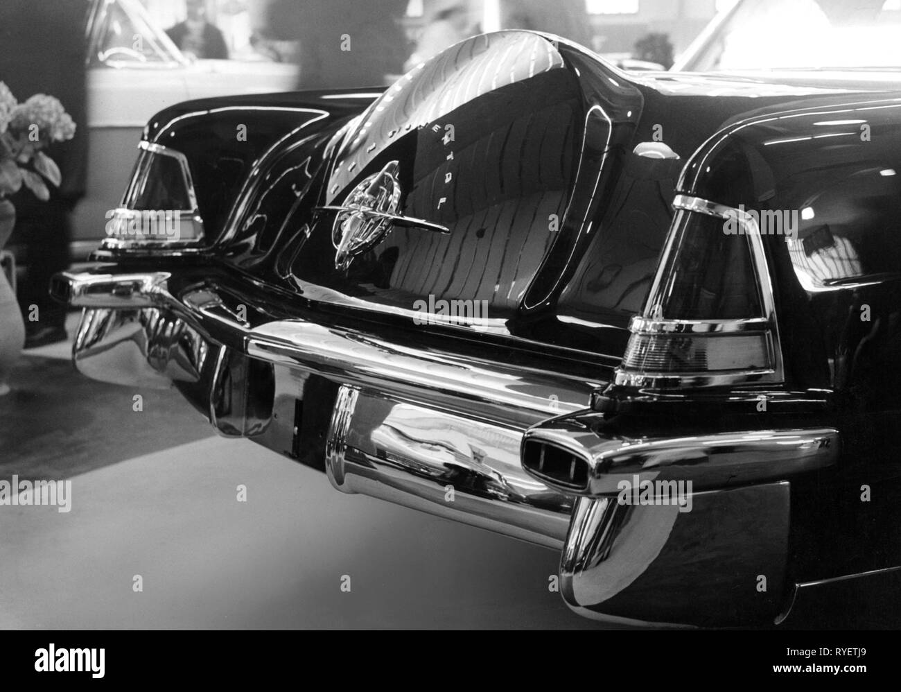 transport / transportation, cars, vehicle variants, Continental Mark II, detail, rear, USA, 1957, Additional-Rights-Clearance-Info-Not-Available - Stock Image