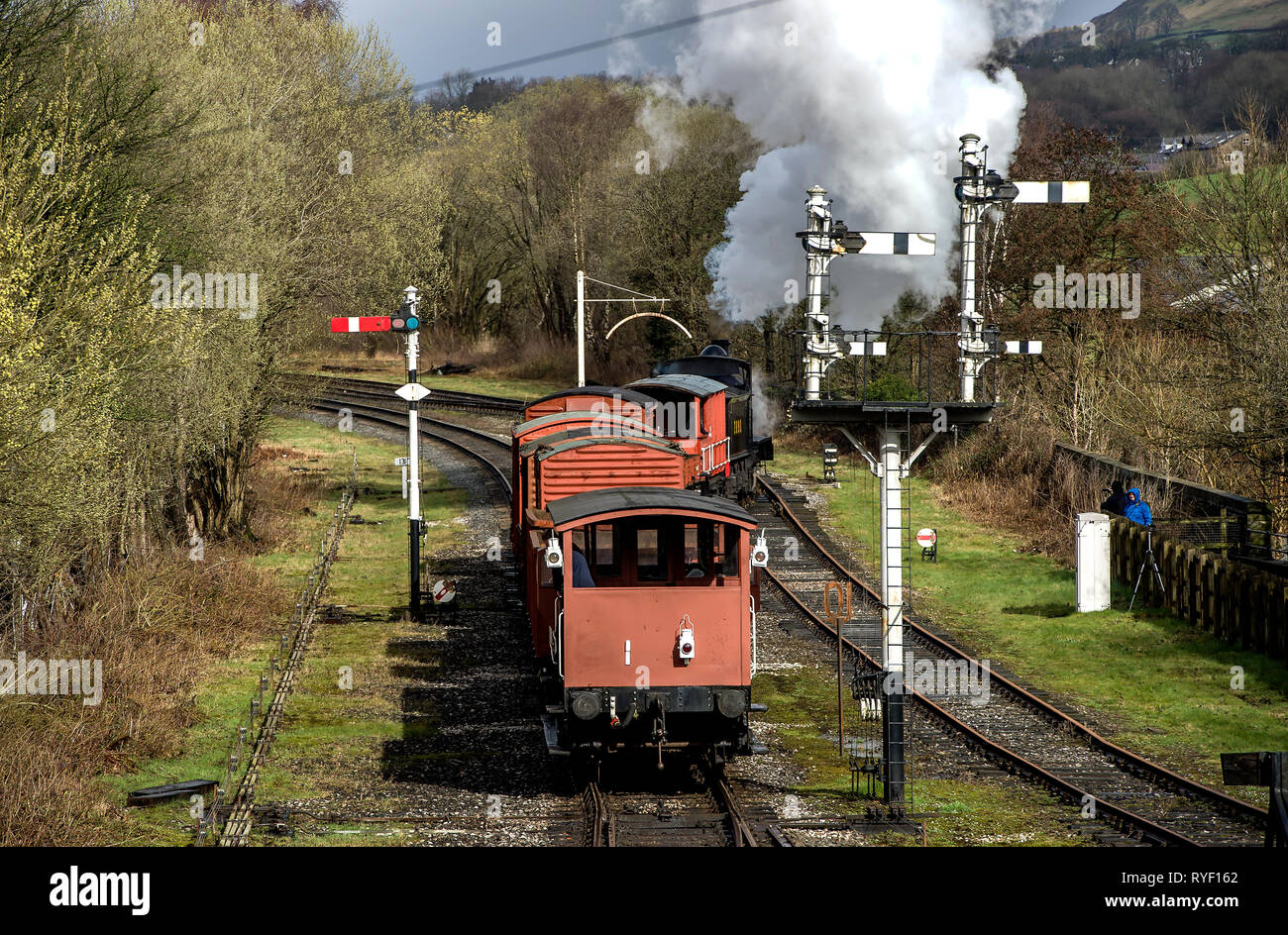 Lancashire, UK, Sunday March 10, 2019. The annual East Lancashire Railway Spring Steam Gala attracted bumper crowds of rail enthusiasts from all over  Stock Photo