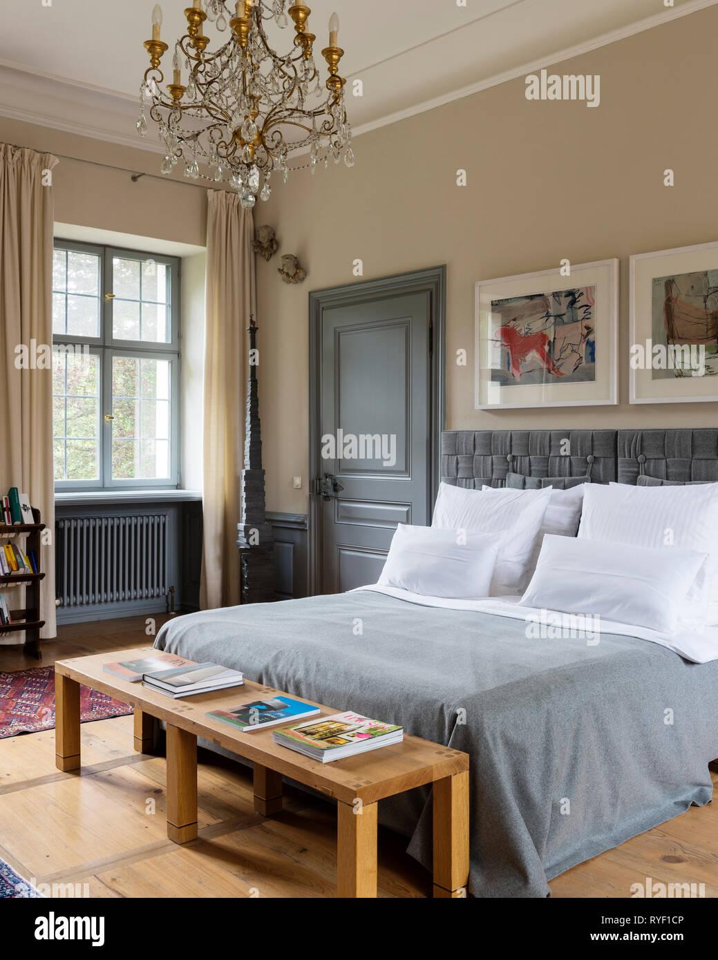 Edwardian Bedroom In Schloss Unterleinleiter In Bavaria Germany Stock Photo Alamy