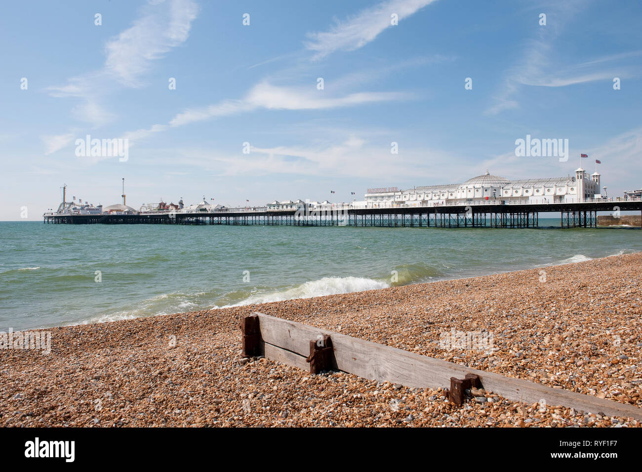 Brighton Palace Pier in the coastal town of Brighton, Sussex, England. Stock Photo