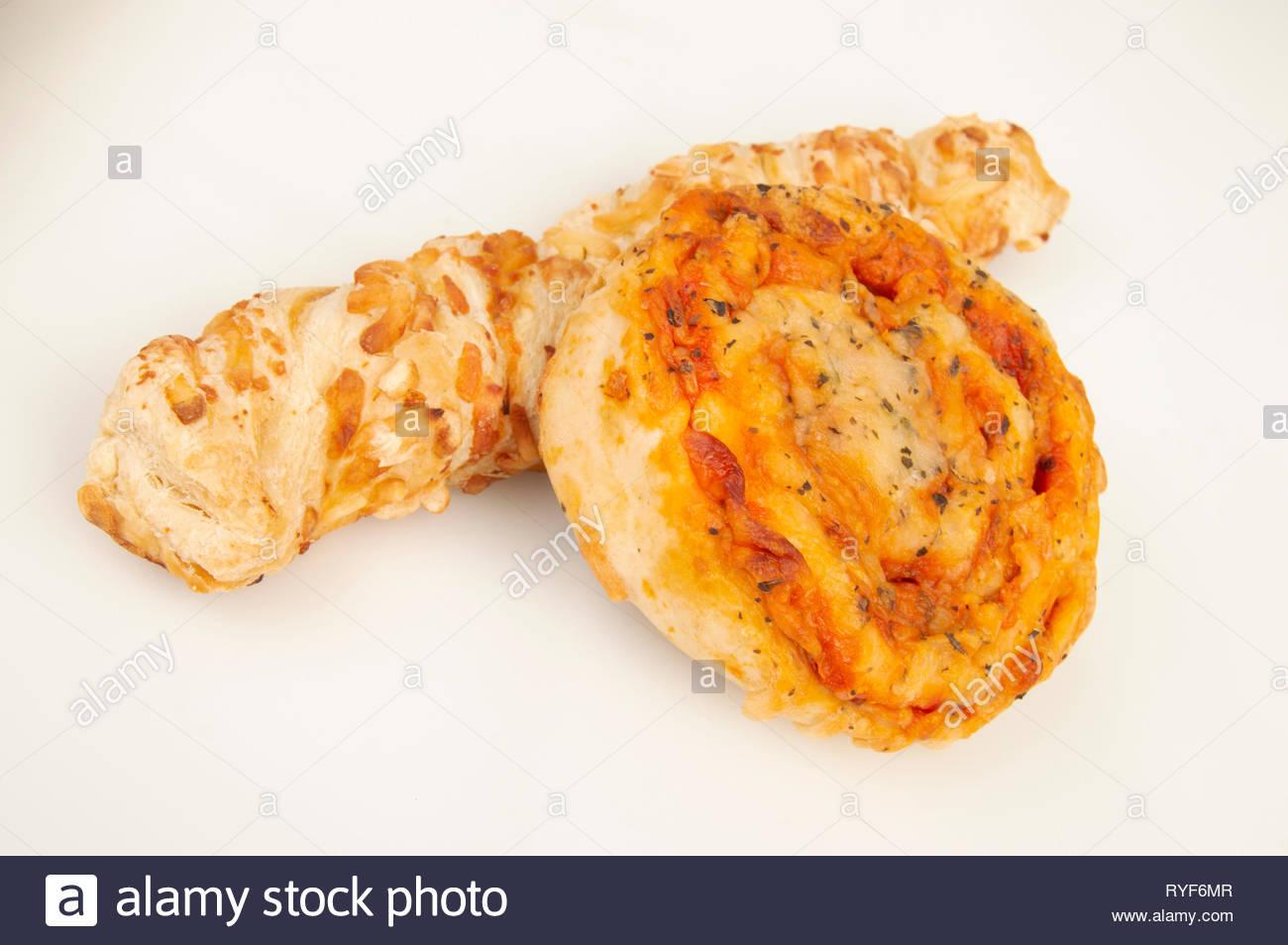 Cheese swirls - Stock Image