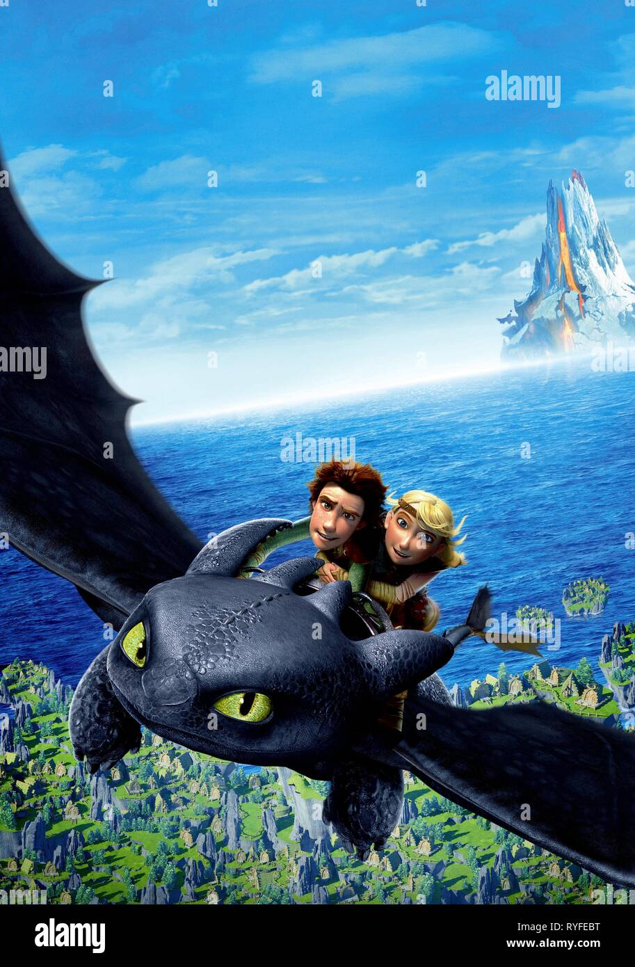Hiccup Astrid How To Train Your Dragon 2010 Stock Photo Alamy