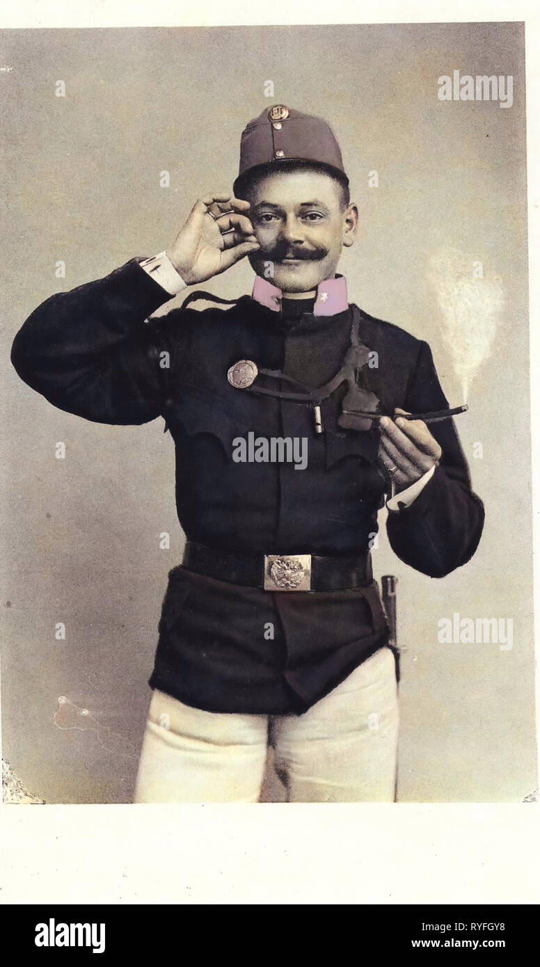 Austro-Hungarian Army, 1910, Vienna, Wien, Soldat - Stock Image