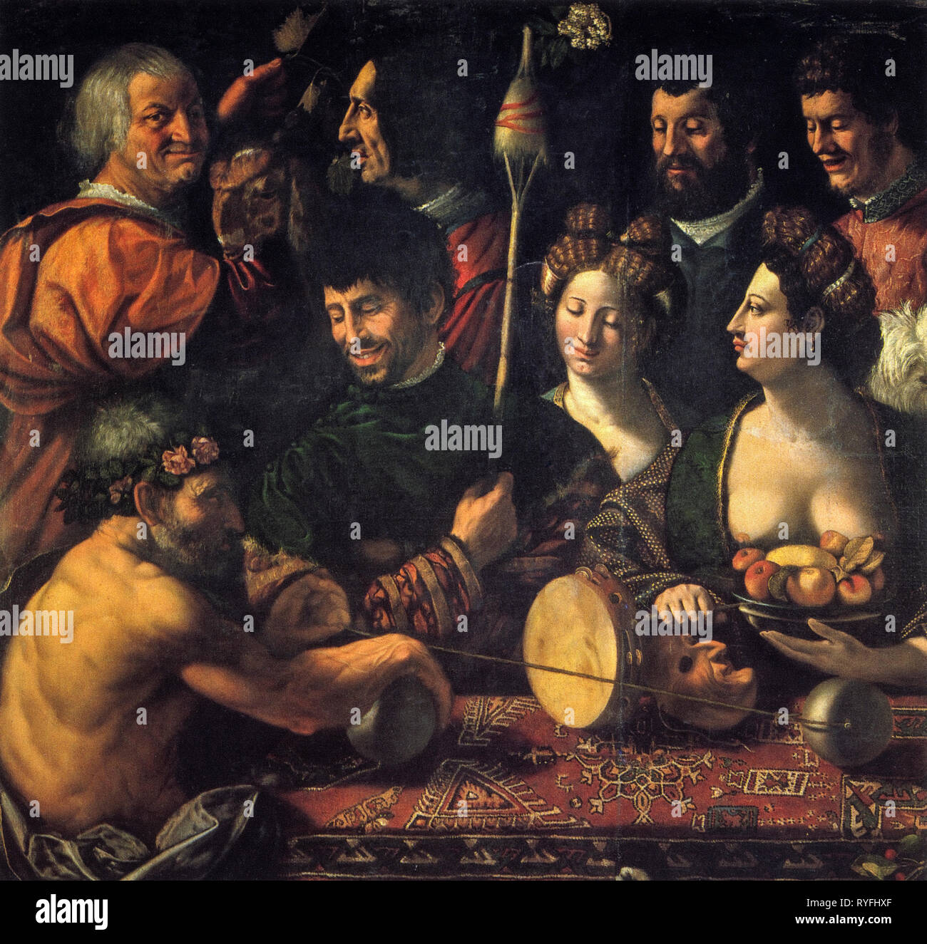 Witchcraft (Allegory of Hercules) by Dosso Dossi 1535 - Stock Image