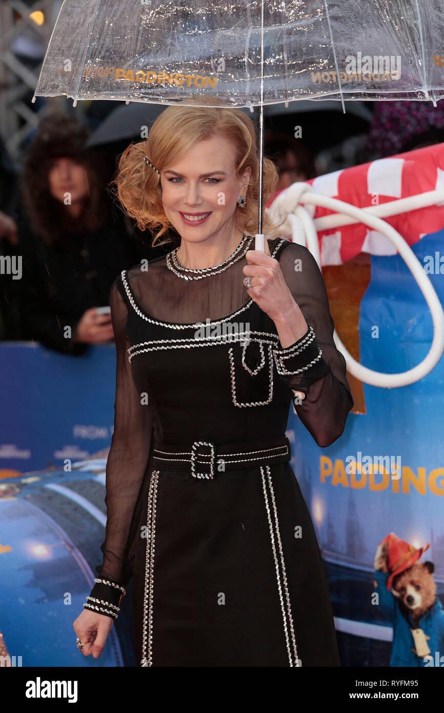 Nov 23, 2014 - London, England, UK - 'Paddington' World Premiere - Red Carpet Arrivals, Odeon, Leicester Square Photo Shows: Nicole Kidman - Stock Image