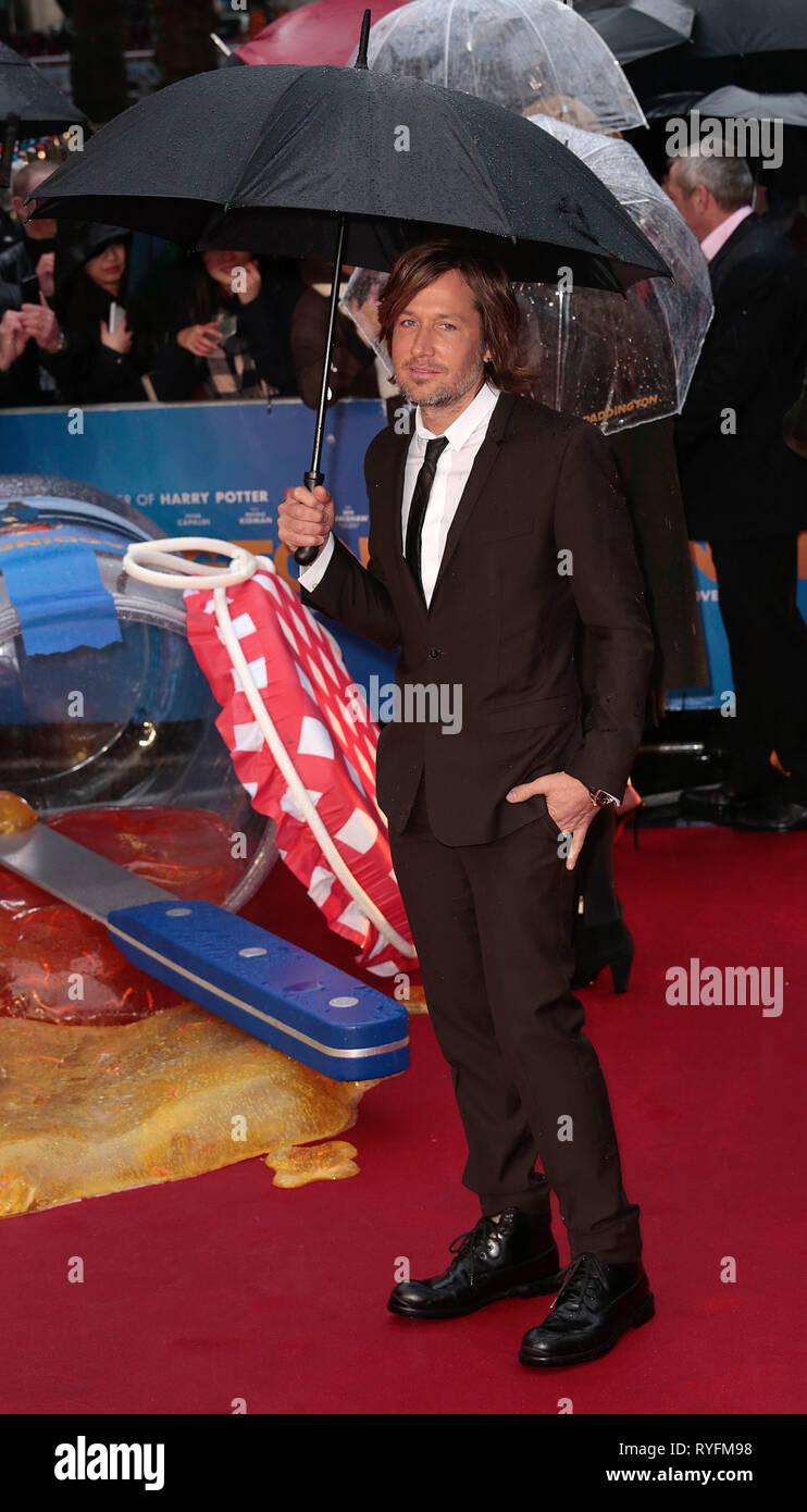 Nov 23, 2014 - London, England, UK - 'Paddington' World Premiere - Red Carpet Arrivals, Odeon, Leicester Square Photo Shows: Keith Urban - Stock Image