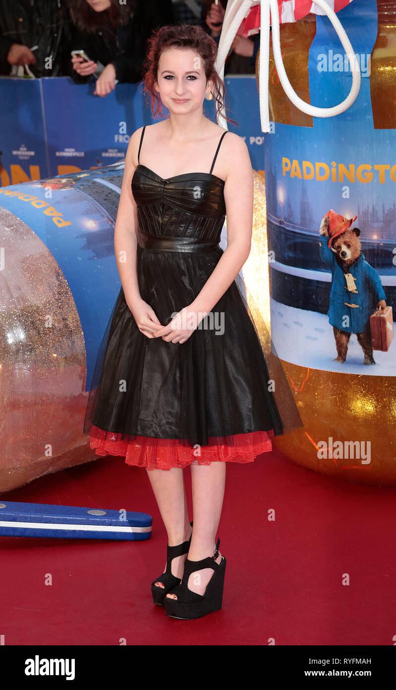 Nov 23, 2014 - London, England, UK - 'Paddington' World Premiere - Red Carpet Arrivals, Odeon, Leicester Square Photo Shows: Madeleine Harris - Stock Image