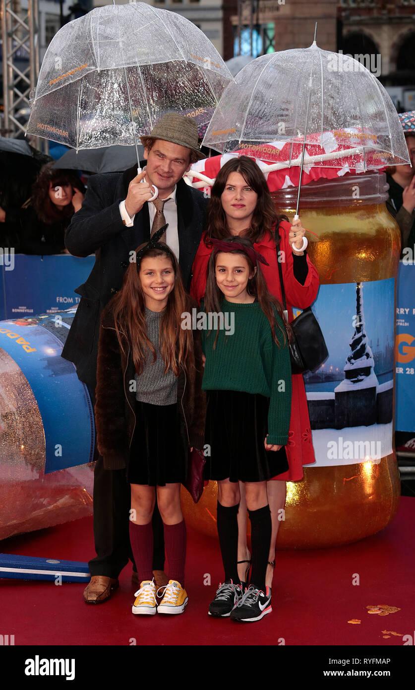 Nov 23, 2014 - London, England, UK - 'Paddington' World Premiere - Red Carpet Arrivals, Odeon, Leicester Square Photo Shows: Simon Farnaby - Stock Image