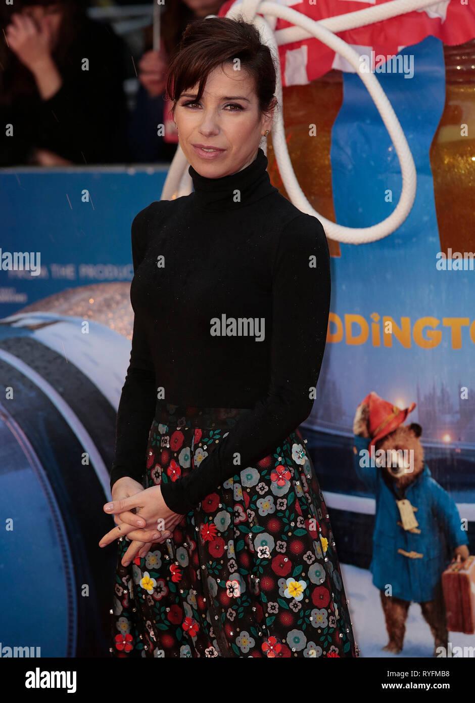Nov 23, 2014 - London, England, UK - 'Paddington' World Premiere - Red Carpet Arrivals, Odeon, Leicester Square Photo Shows: Sally Hawkins - Stock Image
