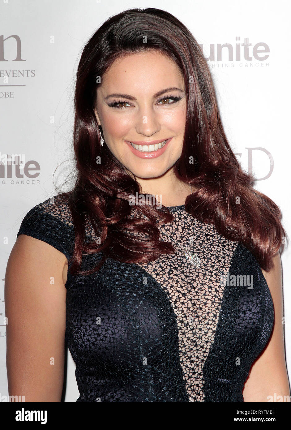 Nov 22, 2014 - London, England, UK - Teens Unite: A Twisted Tale Charity Ball at The UnderGlobe, Southbank Photo Shows: Kelly Brook - Stock Image