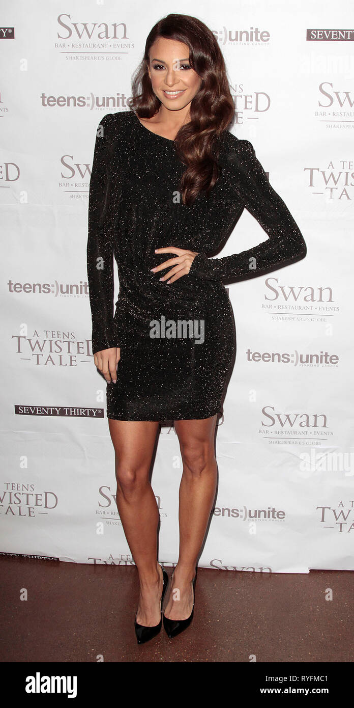 Nov 22, 2014 - London, England, UK - Teens Unite: A Twisted Tale Charity Ball at The UnderGlobe, Southbank Photo Shows: Danielle Peazer - Stock Image