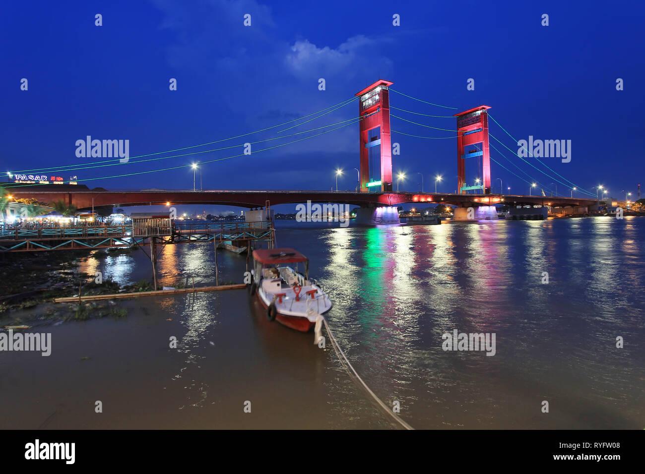 Jembatan Ampera Palembang - Stock Image