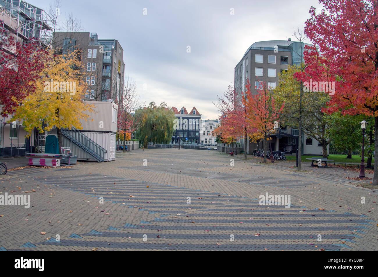 Wilhelmina Blombergplein Square At Amsterdam The Netherlands 2018 Stock Photo