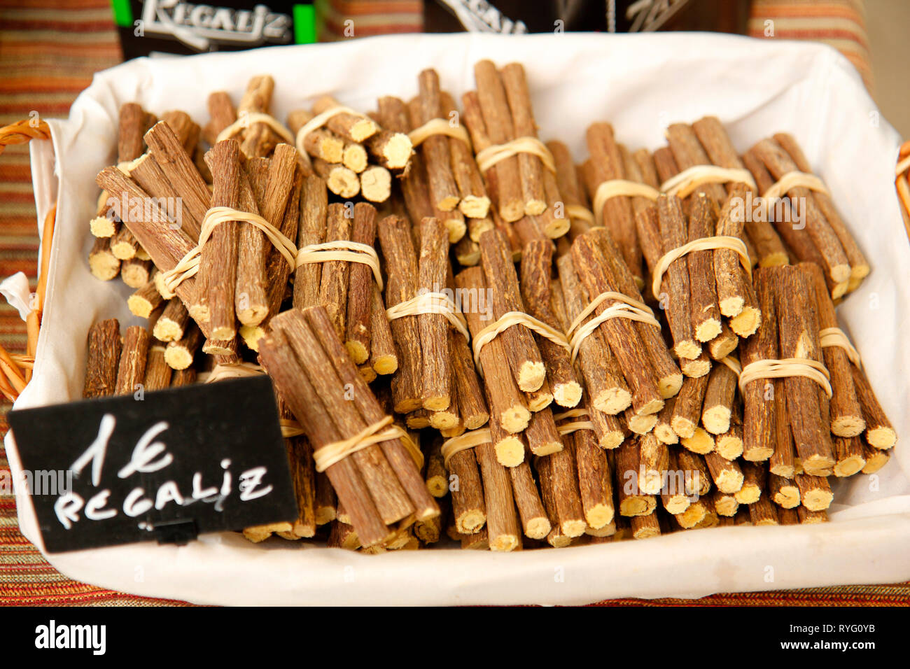 LIquorice for sale. - Stock Image