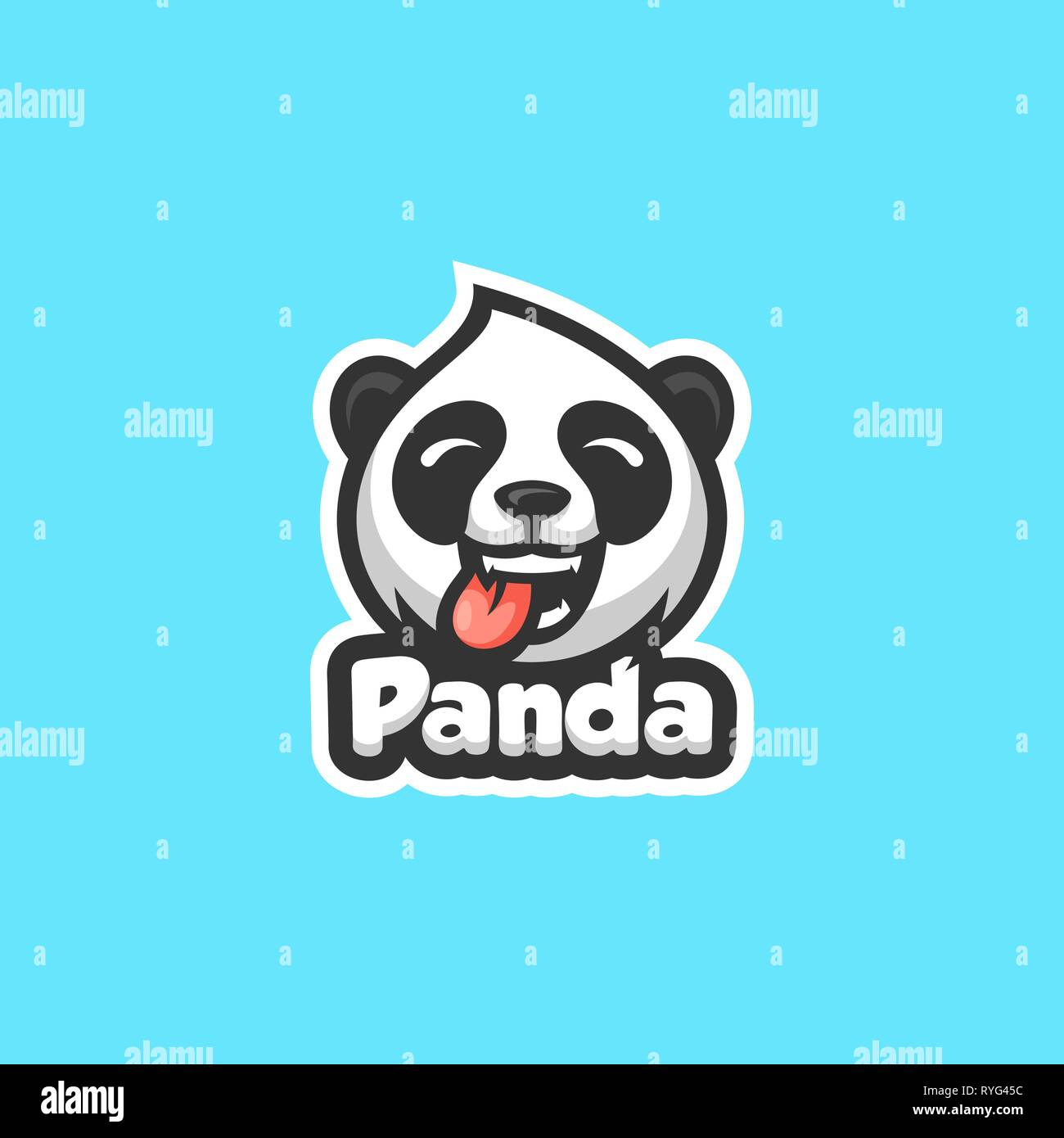 Panda Concept illustration vector template. Suitable for Creative Industry, Multimedia, entertainment, Educations, Shop, and any related business - Stock Image