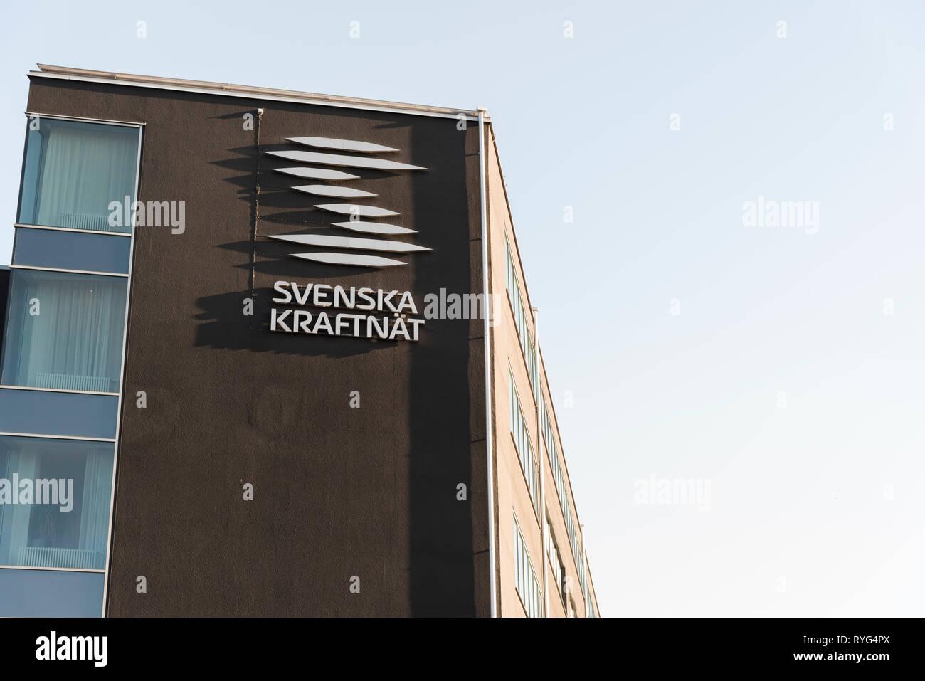 Headquarters of Svenska Kraftnät in Sundbyberg. Stockholm, Sweden. - Stock Image