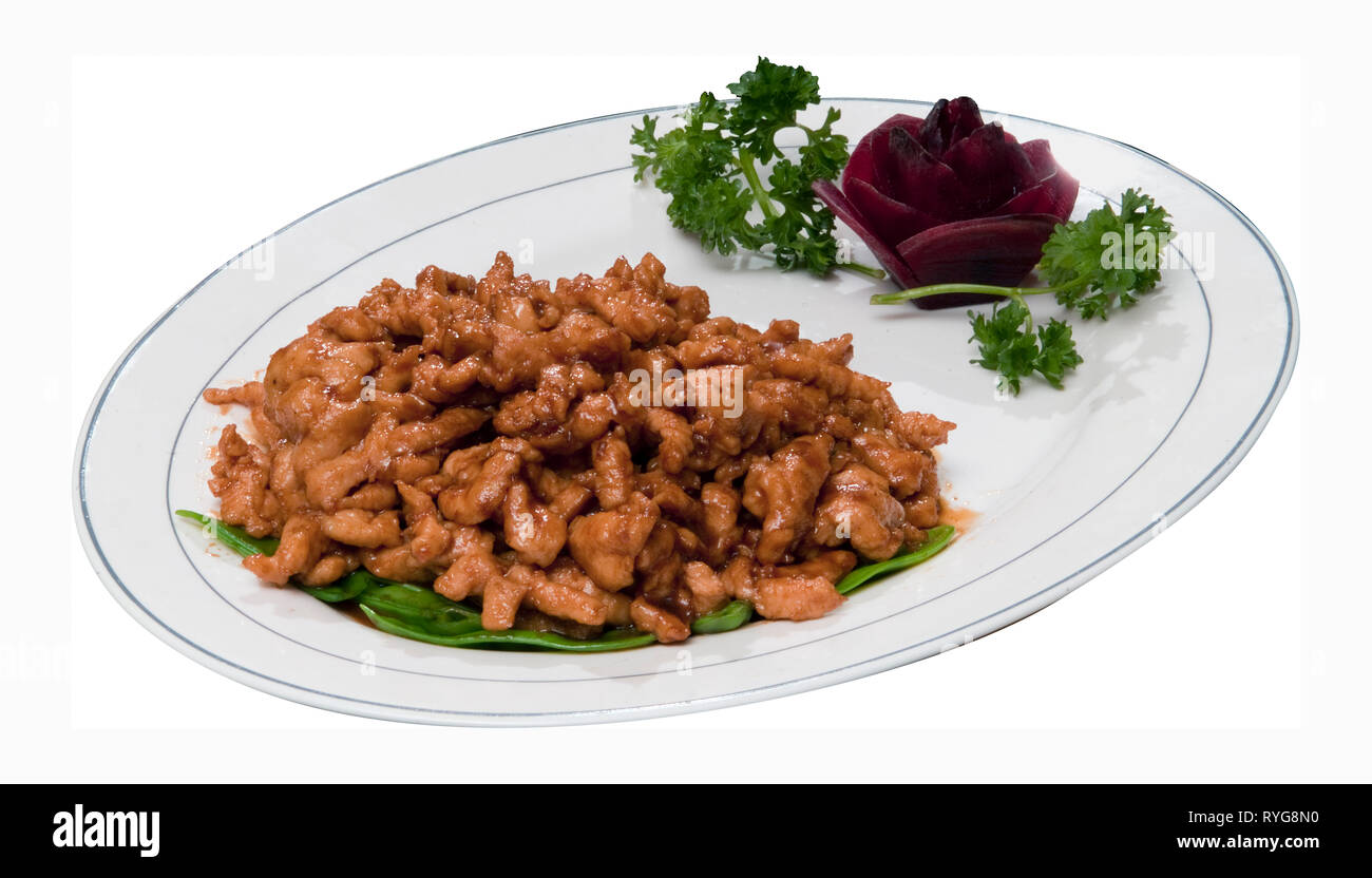 Chicken in Garlic Sauce - Stock Image