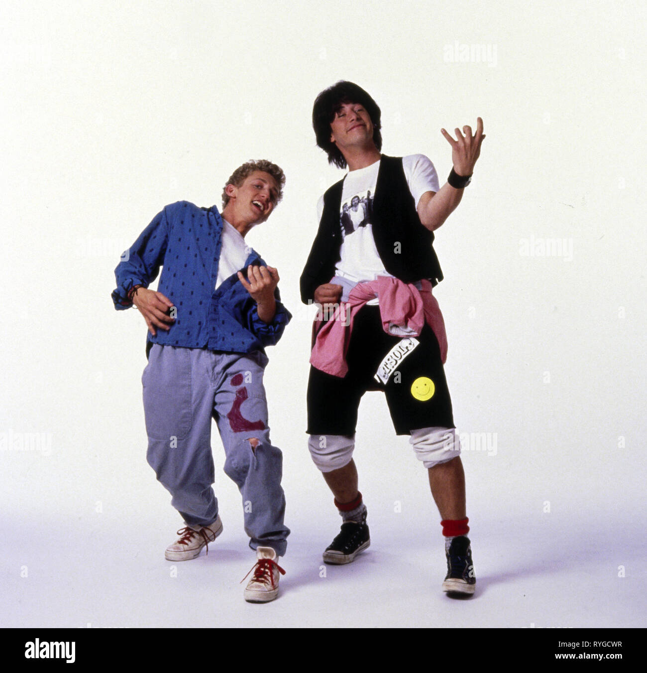 ALEX WINTER, KEANU REEVES, BILL and TED'S EXCELLENT ADVENTURE, 1989 - Stock Image