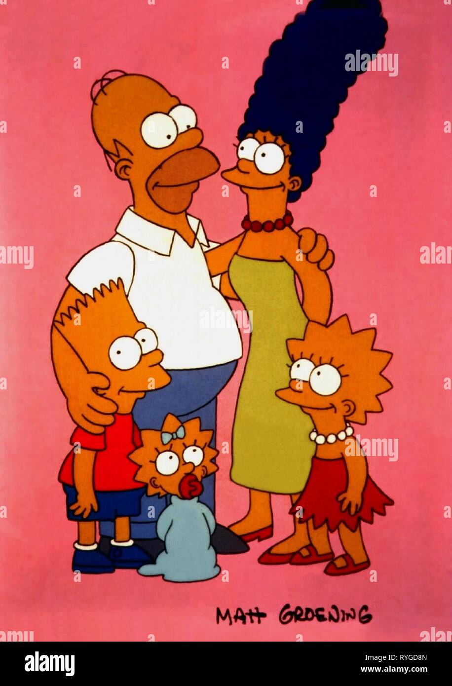 THE SIMPSONS, THE SIMPSONS, 1989 - Stock Image