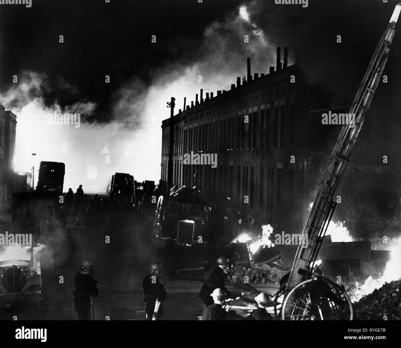 BATTLE OF BRITAIN, LONDON BOMBINGS AFTERMATH, 1969 - Stock Image