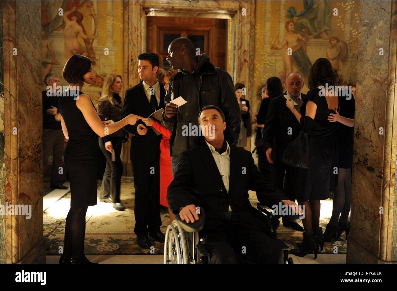 OMAR SY, FRANCOIS CLUZET, INTOUCHABLES, 2011 - Stock Image
