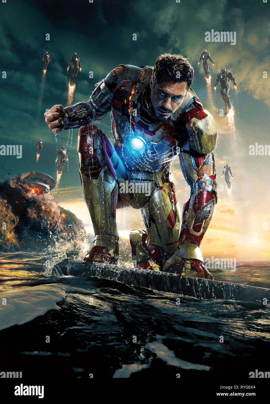 ROBERT DOWNEY JR., IRON MAN 3, 2013 - Stock Image