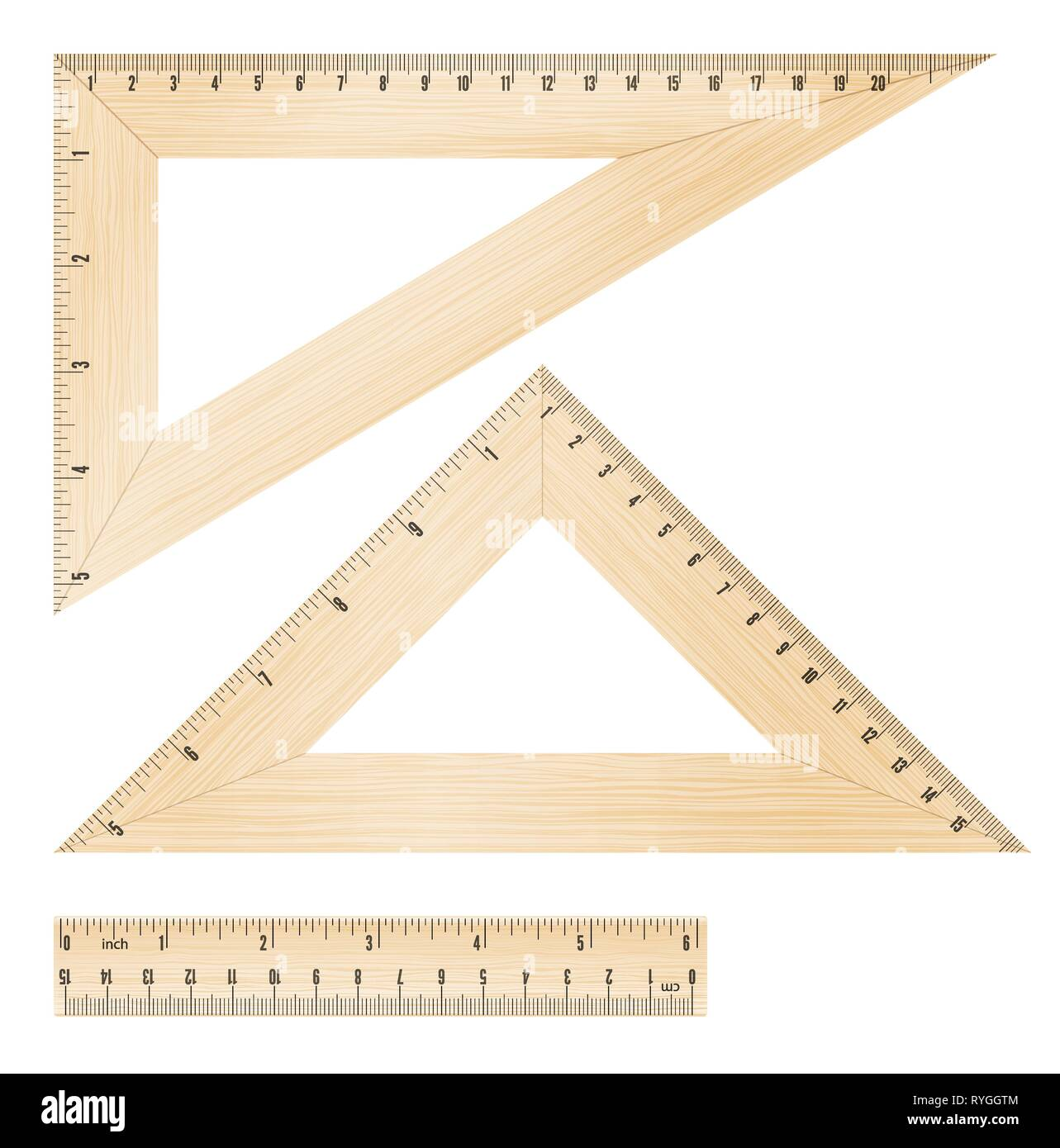 rulers and triangles - Stock Vector