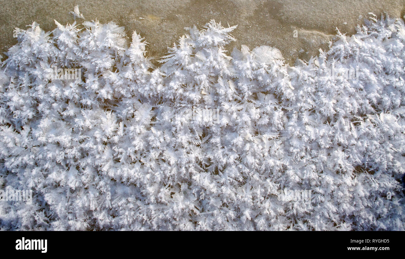 christams background, inatulal ice cristals, art by frost - Stock Image