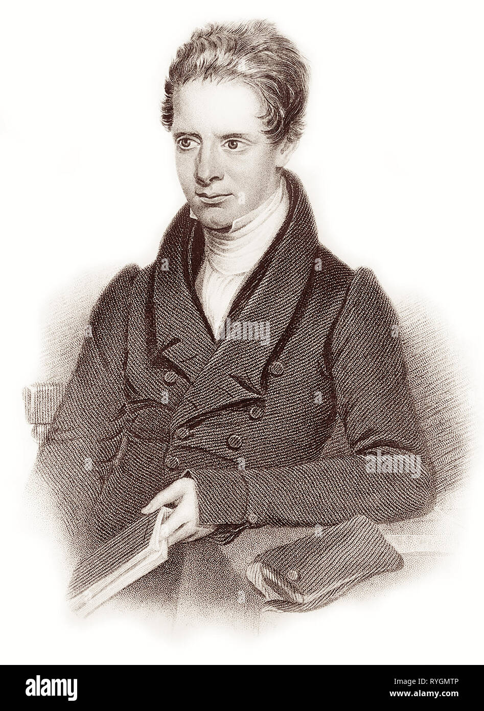 Samuel Dyer (1804-1843) of the London Missionary Society was a pioneering British Protestant Christian missionary to China who worked among the Chinese in Malaysia. Samuel's fourth child (of five), Maria Jane Dyer, would later become the wife of Hudson Taylor, founder of China Inland Mission. - Stock Image