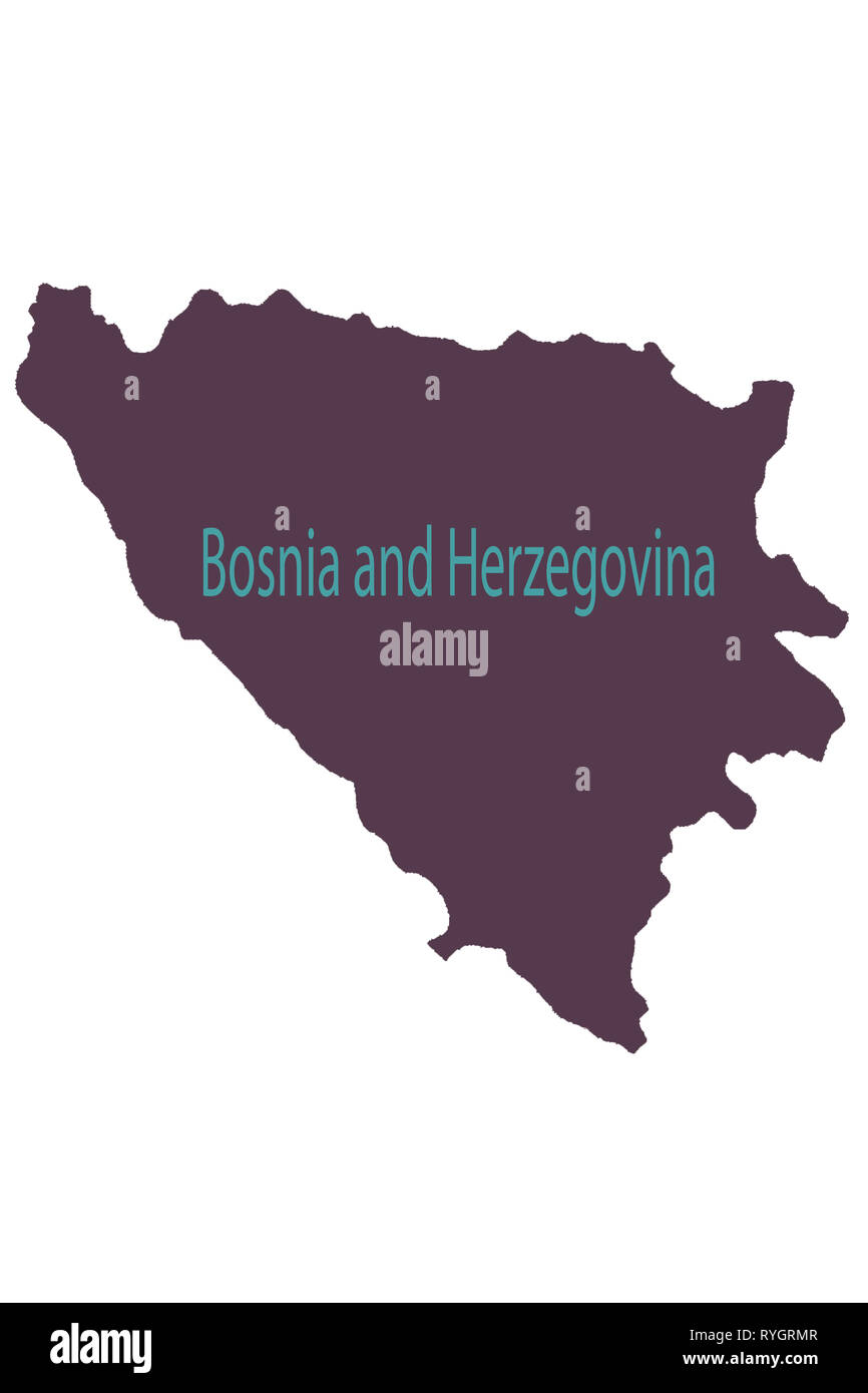 Tuzla pinned on a map of Bosnia and Herzegovina - Stock Image
