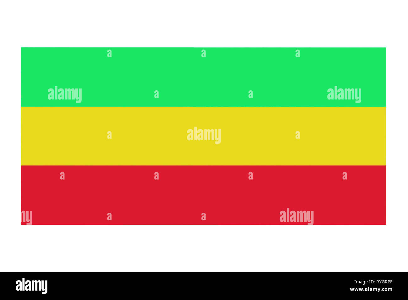 Ethiopia flag painted on old wood plank. Patriotic background National flag of Ethiopia - Stock Image