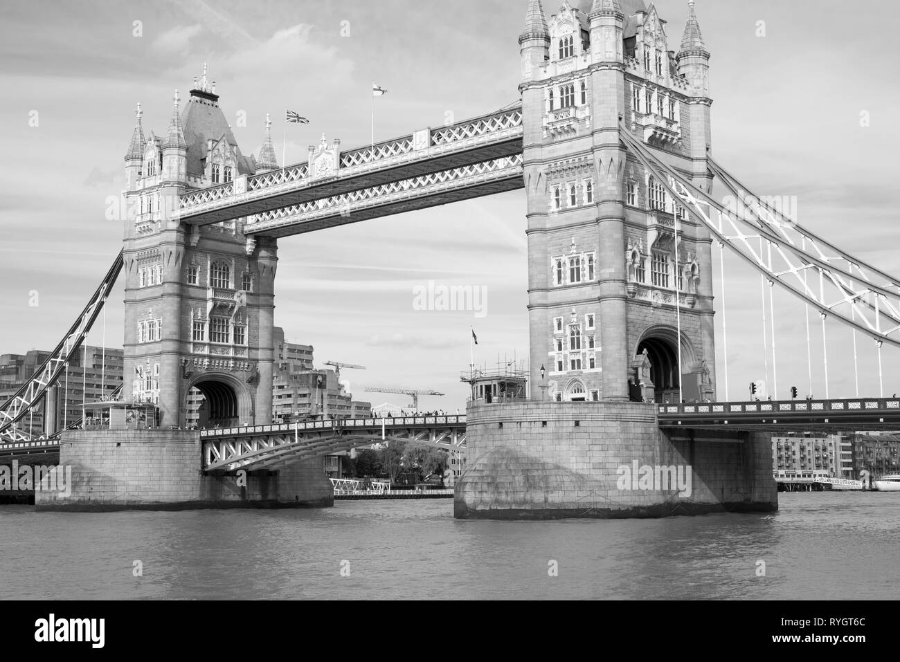 london's tower bridge over the river thames - Stock Image