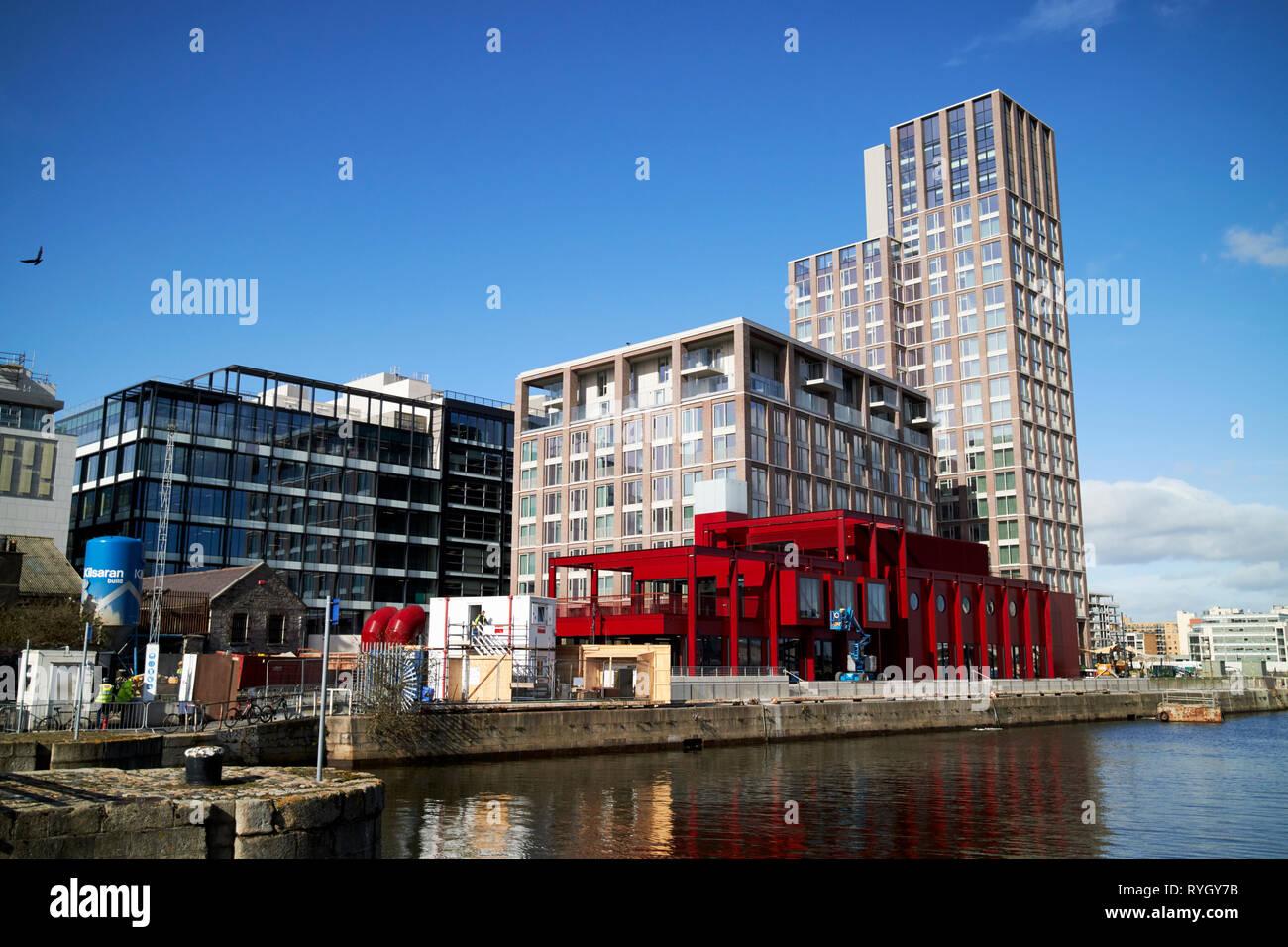 capital dock including capital dock tower in dublins docklands dublin 2 Dublin Republic of Ireland Europe - Stock Image