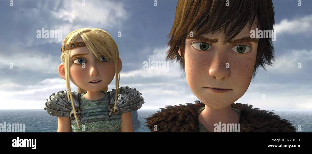Astrid Hiccup How To Train Your Dragon 2010 Stock Photo Alamy