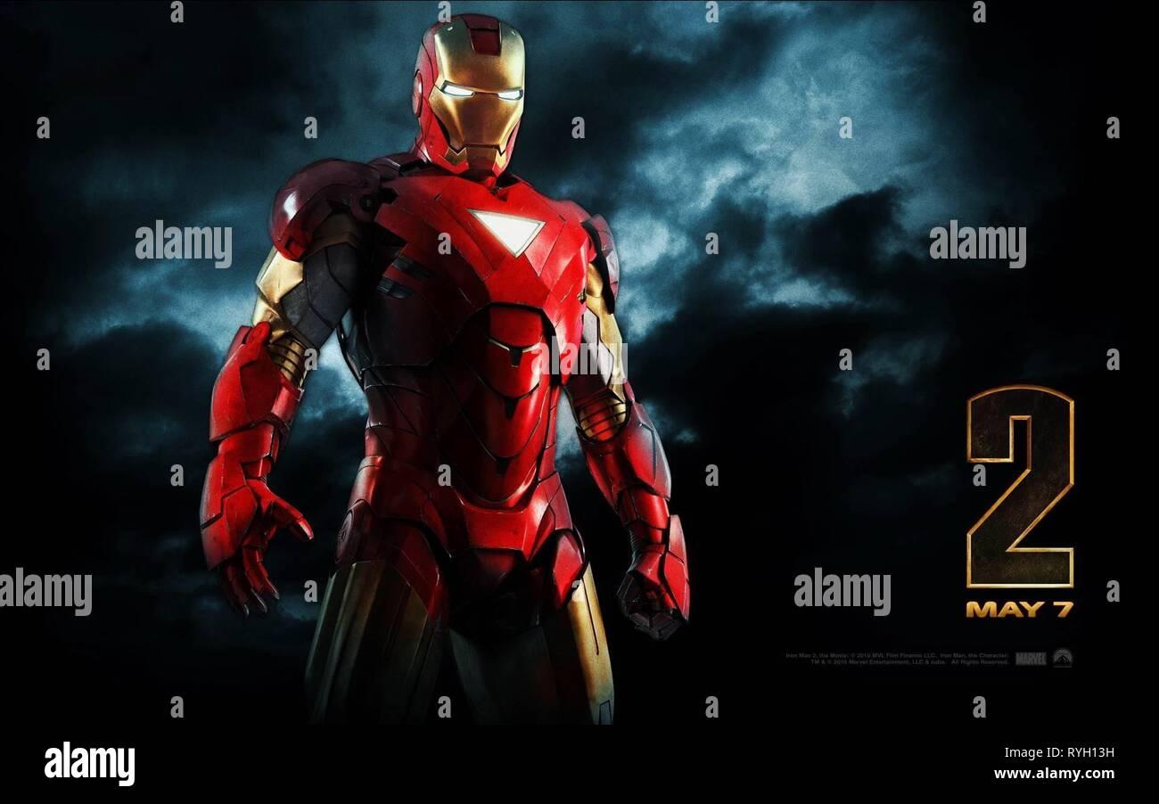 Iron Man Poster Iron Man 2 2010 Stock Photo Alamy