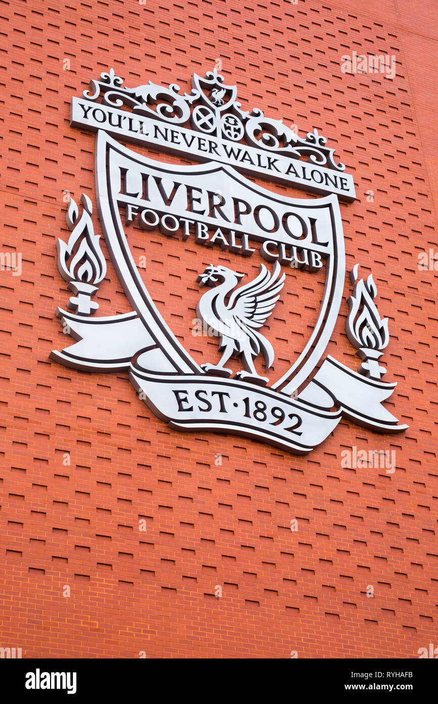 Liverpool Fc Badge High Resolution Stock Photography And Images Alamy
