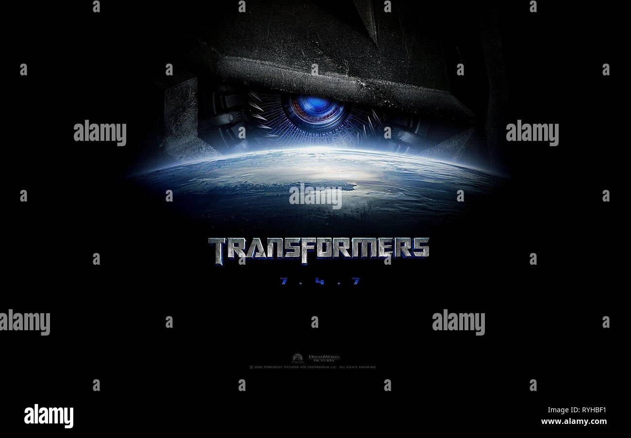 Movie Posters 2007: Transformers Movie Poster Stock Photos & Transformers