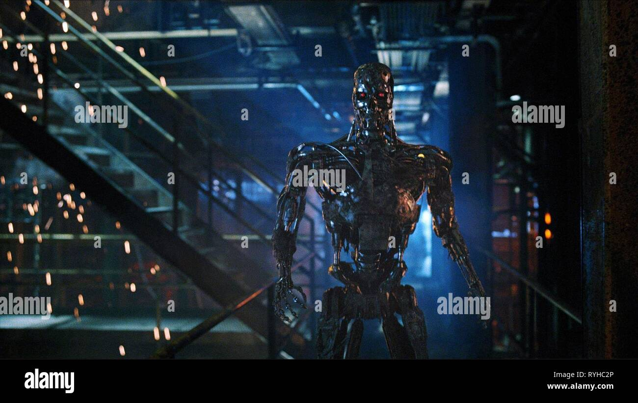 T-800 TERMINATOR, TERMINATOR SALVATION, 2009 - Stock Image