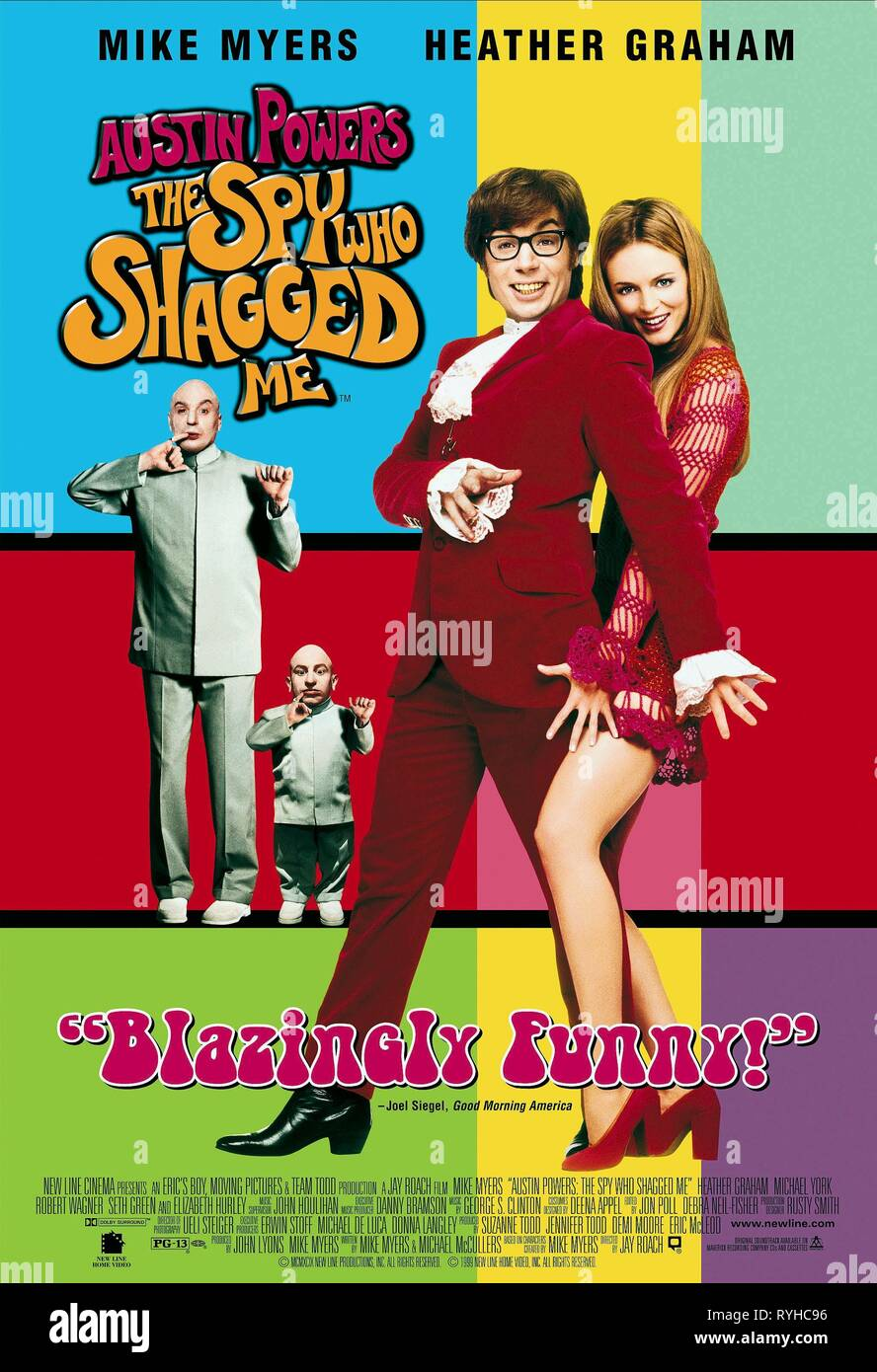 Mike Myers Verne Troyer Heather Graham Poster Austin Powers The Spy Who Shagged Me 1999 Stock Photo Alamy