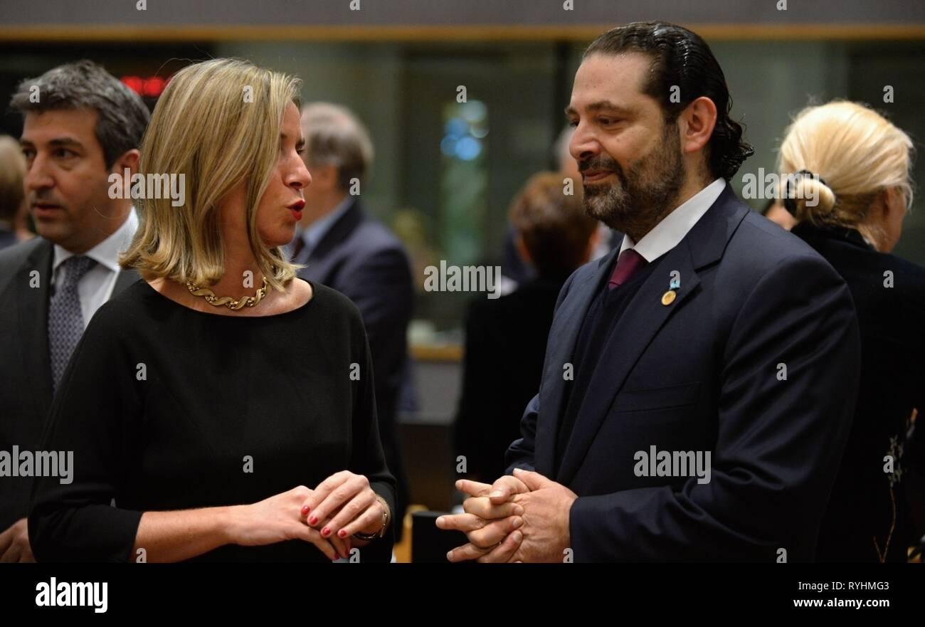 "Resultado de imagem para Mogherini, Hariri e Mikati"""