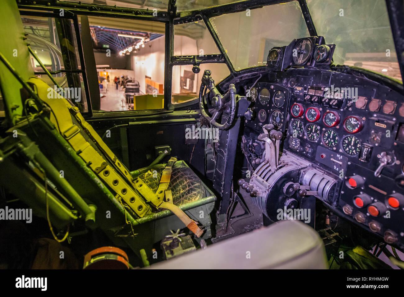 WW2 British Avro Lancaster Cockpit Picture
